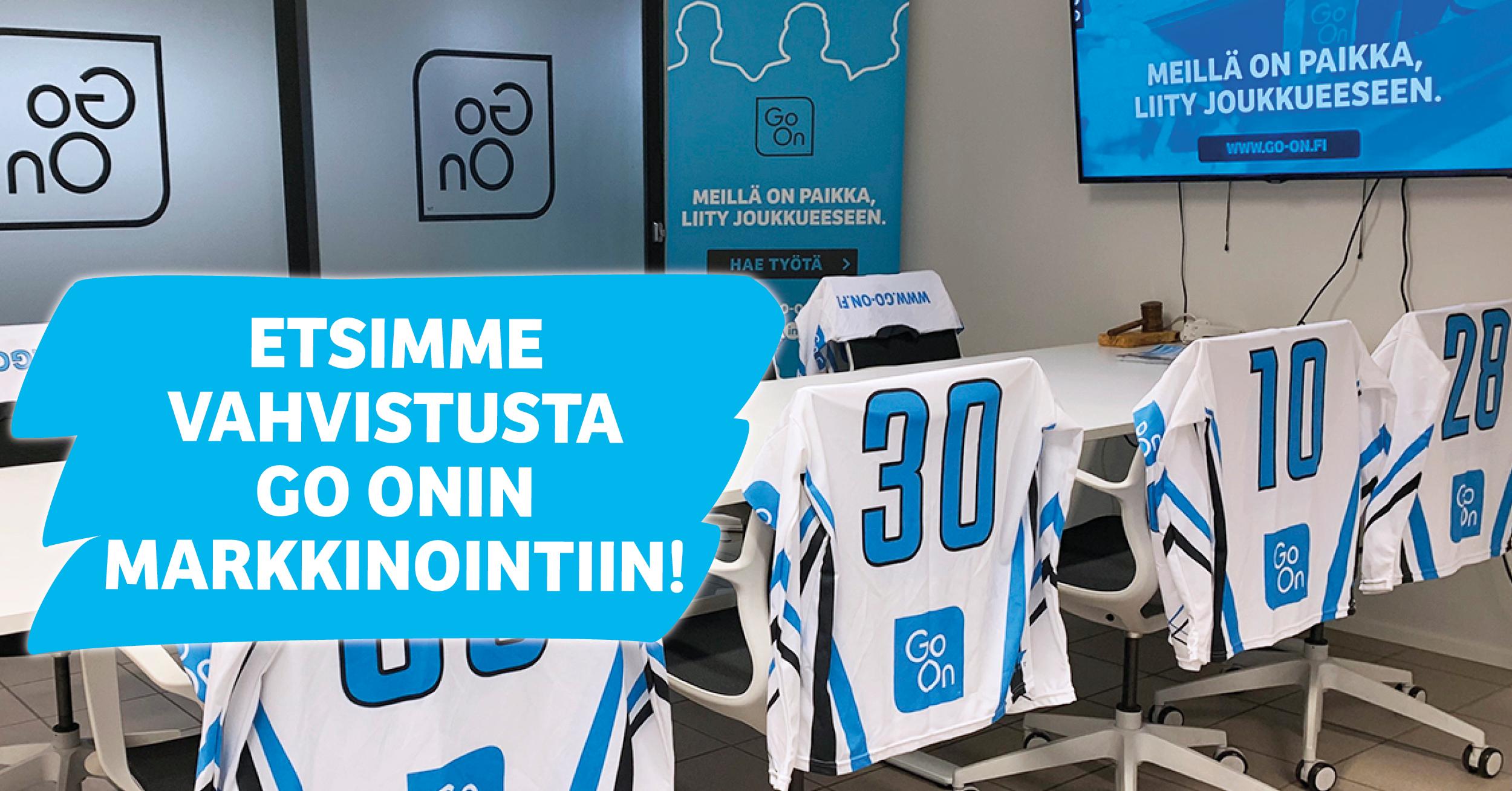 Etsimme nyt Go On Yhtiöille osaavaa MARKKINOINTIKOORDINAATTORIA Jyväskylään!